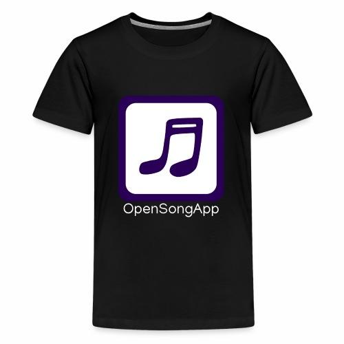 OpenSongApp Square Text - Teenage Premium T-Shirt