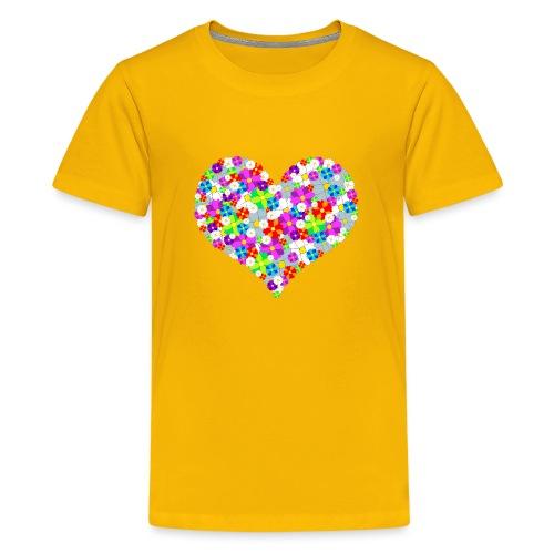 Blumenherz - Teenager Premium T-Shirt
