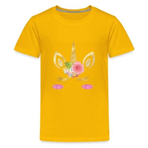 unicorn face - Teenager Premium T-Shirt