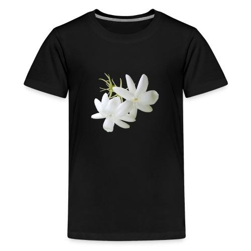 Jasmin weiss Blüte Strauch Duft Pflanze - Teenager Premium T-Shirt