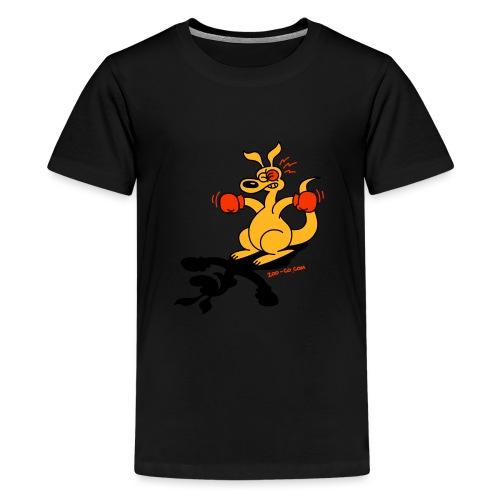 Boxing Kangaroo - Teenage Premium T-Shirt