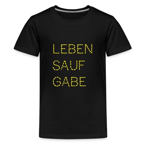 Lebensaufgabe - Teenager Premium T-Shirt