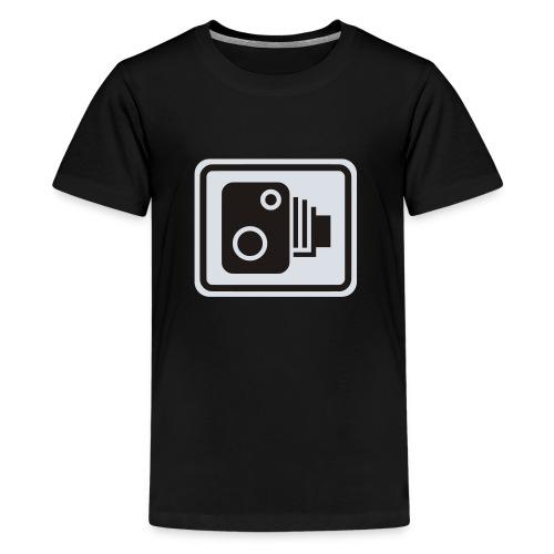 Speed Camera Sign - Teenage Premium T-Shirt