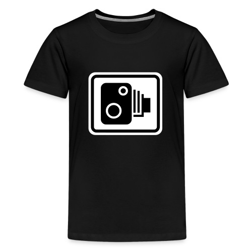 Speed Camera Sign - Teenage Premium T-Shirt
