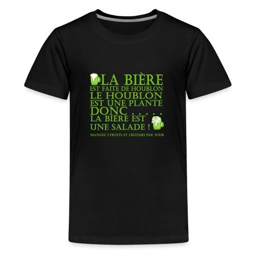 la bière est ... une salade ! - T-shirt Premium Ado