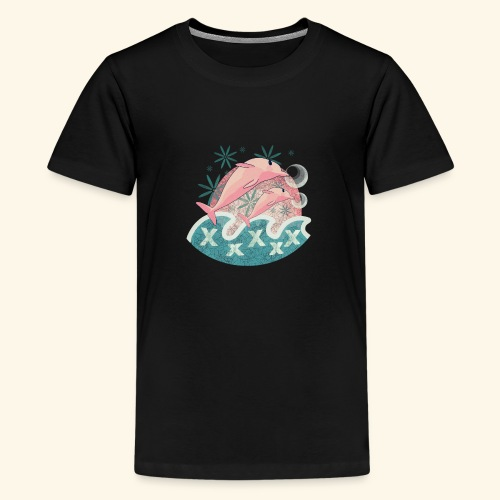 Dauphins rose - T-shirt Premium Ado