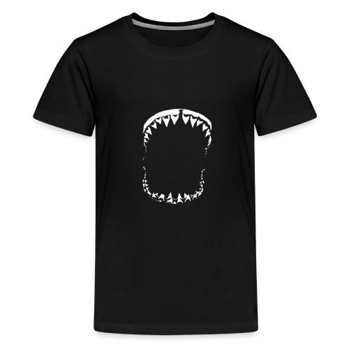 Shark White - T-shirt Premium Ado