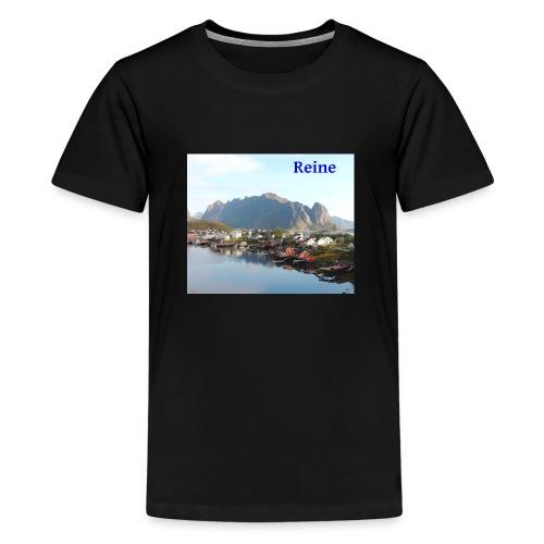 Reine i Lofoten - Premium T-skjorte for tenåringer