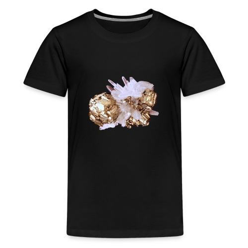 Pyrit Quarz Mineral Kristall Katzengold - Teenager Premium T-Shirt