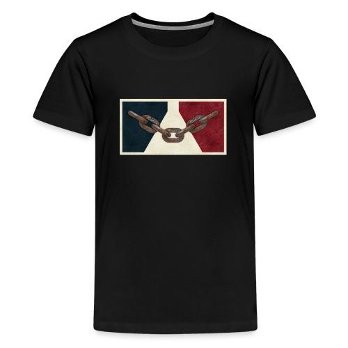 Black County Flag - Teenage Premium T-Shirt