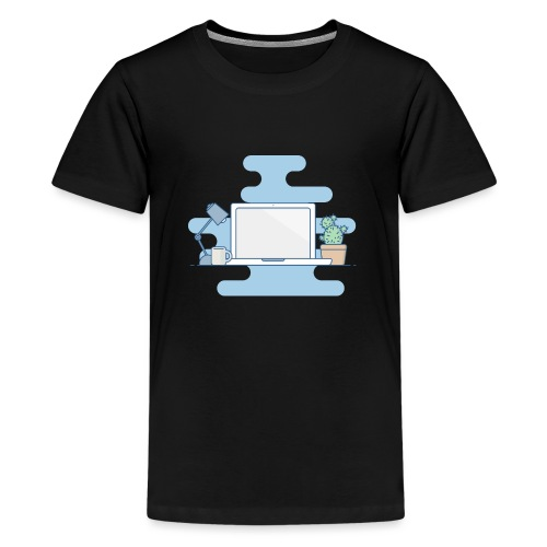 Arbeitstisch - Teenager Premium T-Shirt