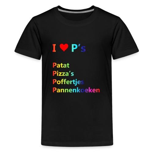 Ik hou van P kindershirt - Teenager Premium T-shirt
