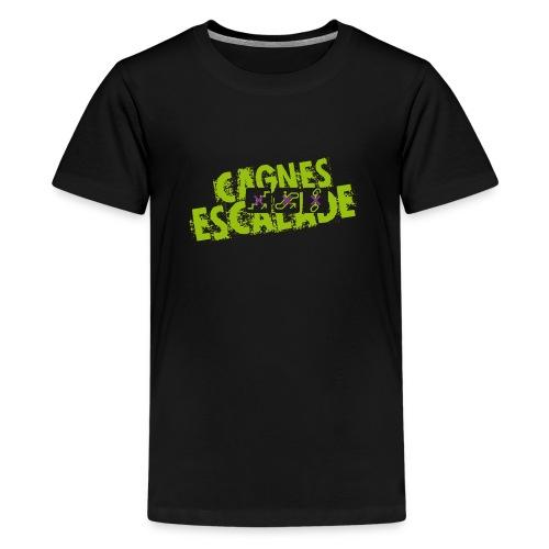 LOGO CAGNES ESCALADE - T-shirt Premium Ado