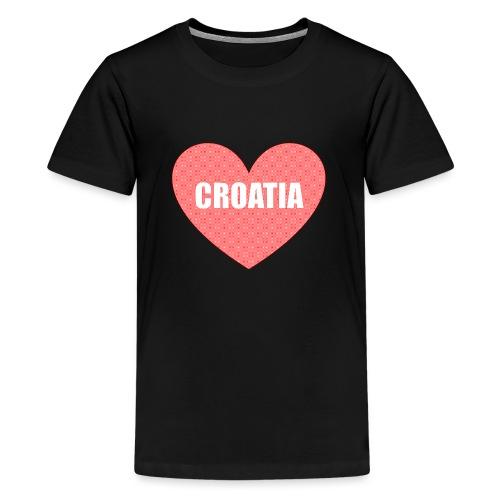 Kroatien_Design_Herz - Teenager Premium T-Shirt
