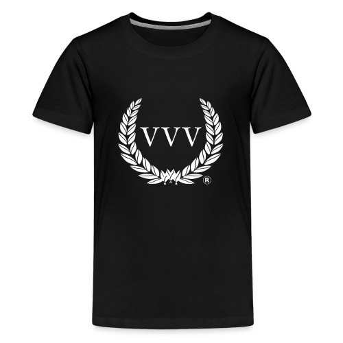 Red & White Team VVV (Large Logo) - Teenage Premium T-Shirt