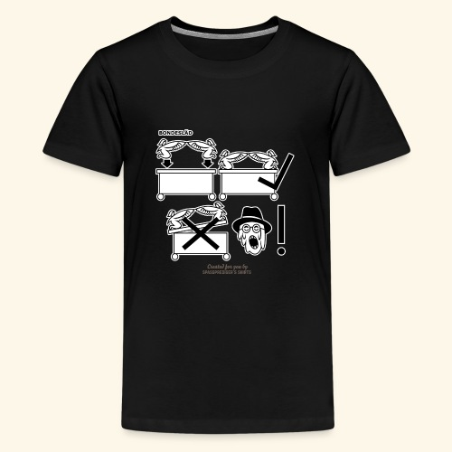 Film Geek T Shirt Design Bondesläd - Teenager Premium T-Shirt