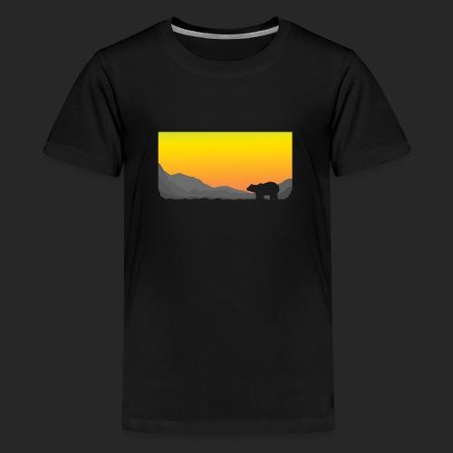 Sunrise Polar Bear - Teenage Premium T-Shirt