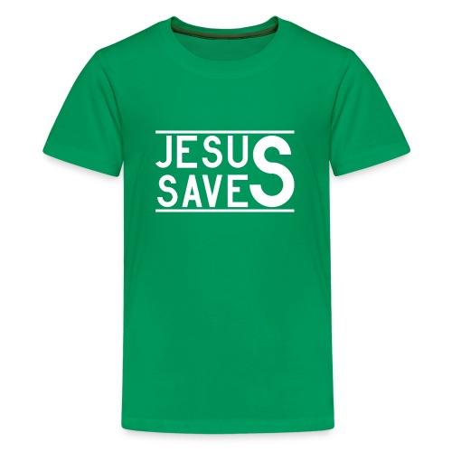 Jesus Saves - Teenager Premium T-Shirt