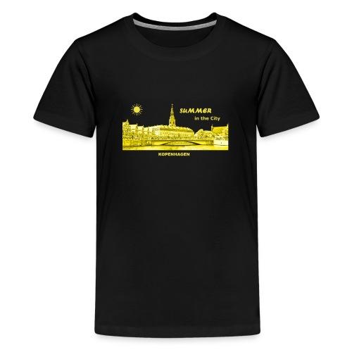 Summer Kopenhagen Dänemark City Rathaus Summer - Teenager Premium T-Shirt