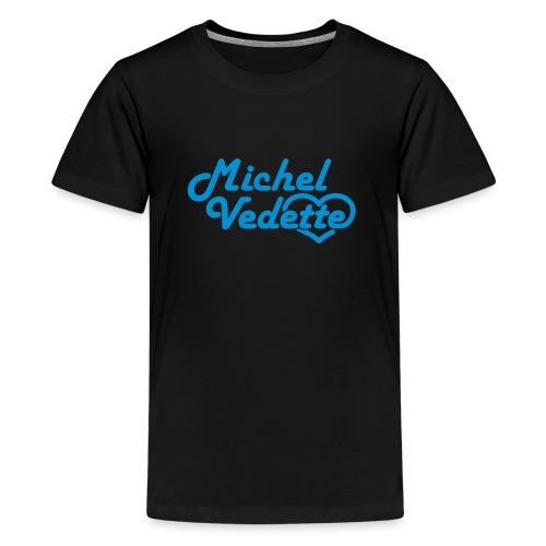 Logo Michel Vedette bleu cyan - T-shirt Premium Ado