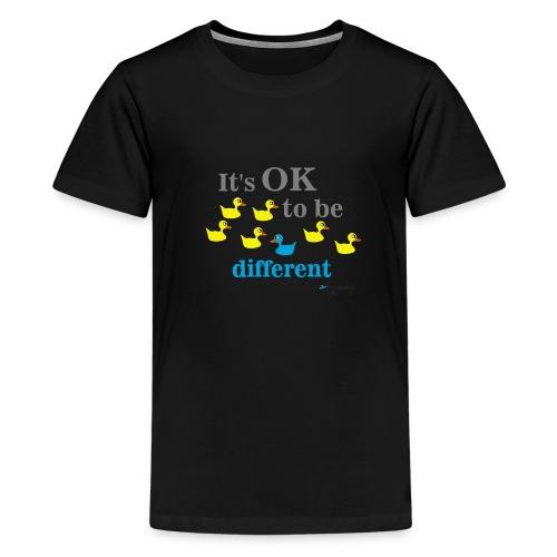 It's OK to be different - Koszulka młodzieżowa Premium