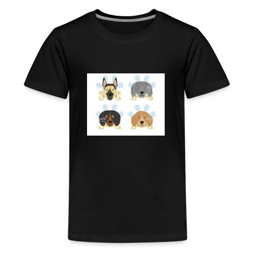 süße Hunde - Teenager Premium T-Shirt