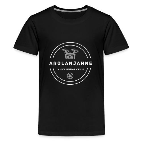 Janne Arola valkoinen - kuva edessä - Teinien premium t-paita