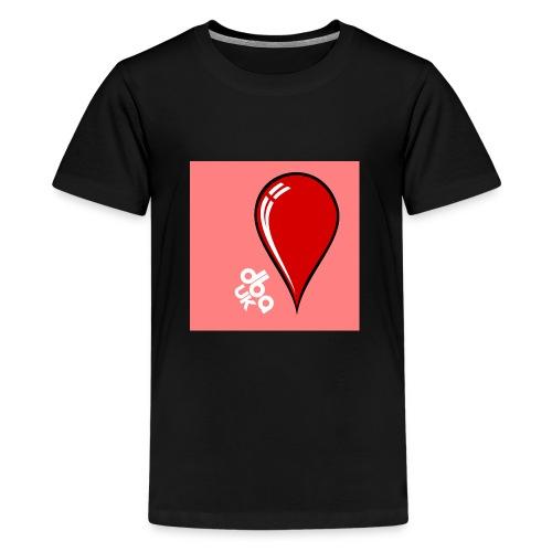 DBA Logo Drop Pink - Teenage Premium T-Shirt