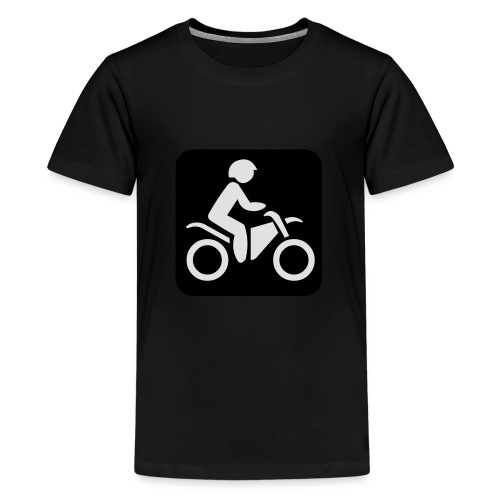 motorcycle - Teinien premium t-paita