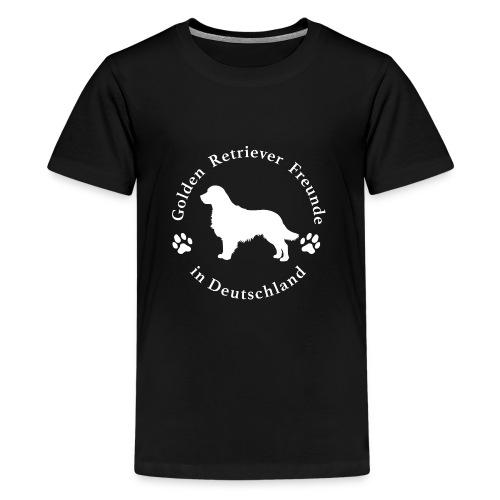 golden retriever freunde weiss neu png - Teenager Premium T-Shirt