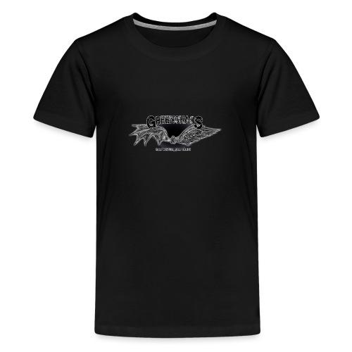 Dämon / Mensch - Schwarz - Teenager Premium T-Shirt