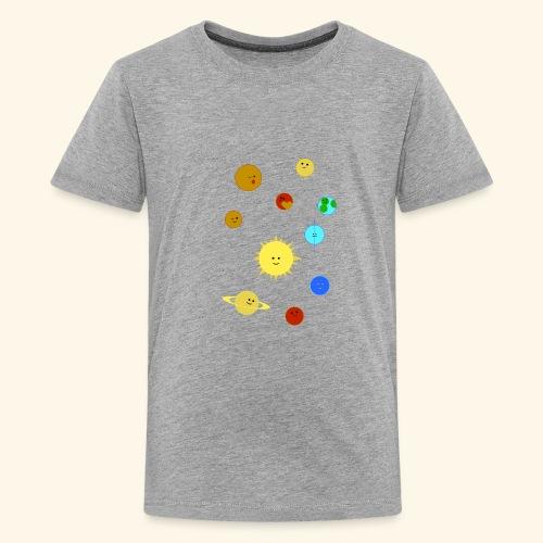 Solsystem svart - Premium-T-shirt tonåring