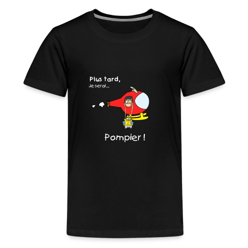 t-shirt grossesse futur pompier - Teenage Premium T-Shirt