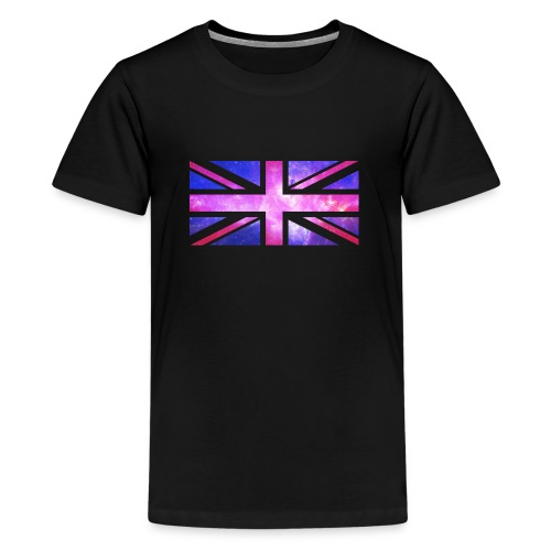 Galaxy Union Jack - Teenage Premium T-Shirt