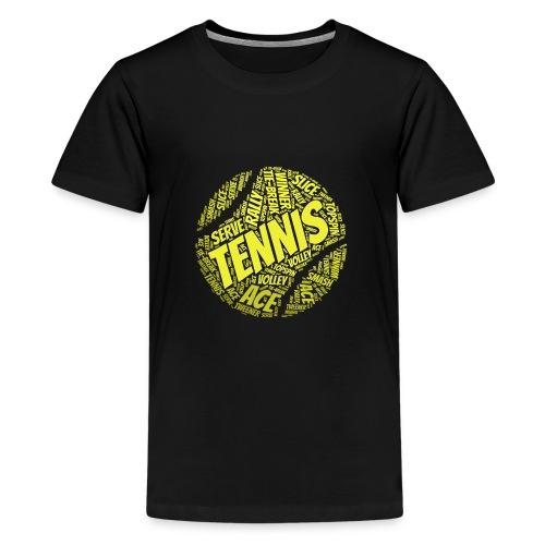 Tennisball Typo-Style - Teenager Premium T-Shirt