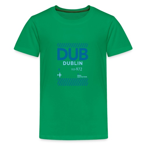Dublin Ireland Travel - Teenage Premium T-Shirt