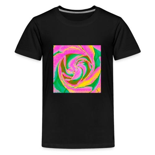 Psychedelic Rose - Teenage Premium T-Shirt