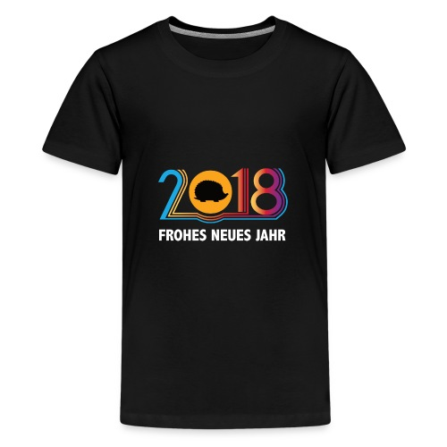 Frohes neues Jahr 2018 Igeldesign - Teenager Premium T-Shirt