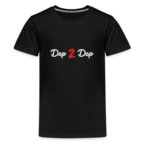 Dop 2 Dop Wit en Rood - Teenager Premium T-shirt