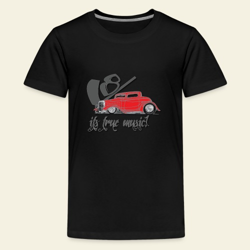 v8 true music - Teenager premium T-shirt