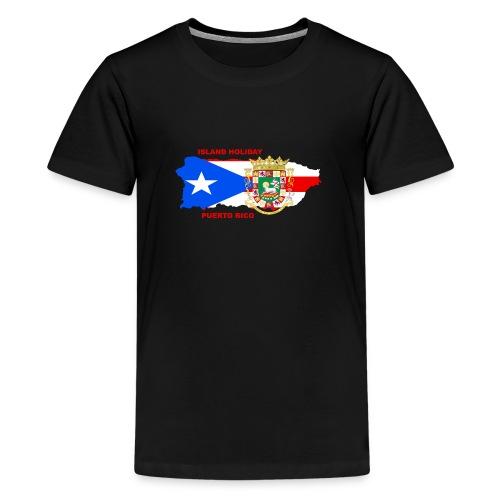 Puerto Rico Island Holiday - Teenager Premium T-Shirt