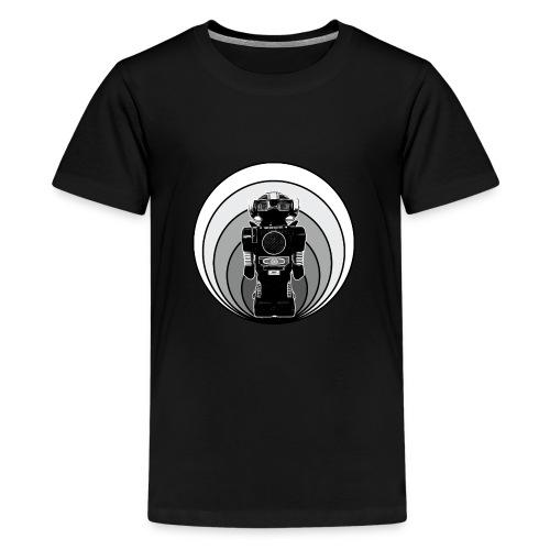 Cooles 80er Retro Roboter T-Shirt Scifi Geschenk - Teenager Premium T-Shirt