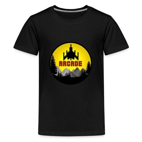 Cooles Vintage Gamer Arcade T-Shirt Old School Fun - Teenager Premium T-Shirt