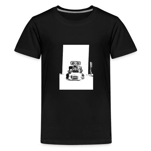 Vintage Retro Roboter Bot Robot Scifi T-Shirt - Teenager Premium T-Shirt
