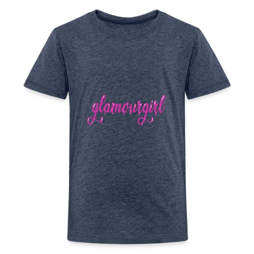 Glamourgirl dripping letters - Teenager Premium T-shirt