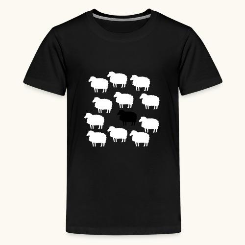 Lustige Schafherde Schwarzes Schaf Geschenkidee - T-shirt Premium Ado
