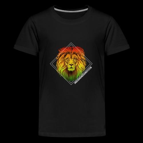 LION HEAD - UNDERGROUNDSOUNDSYSTEM - Teenager Premium T-Shirt