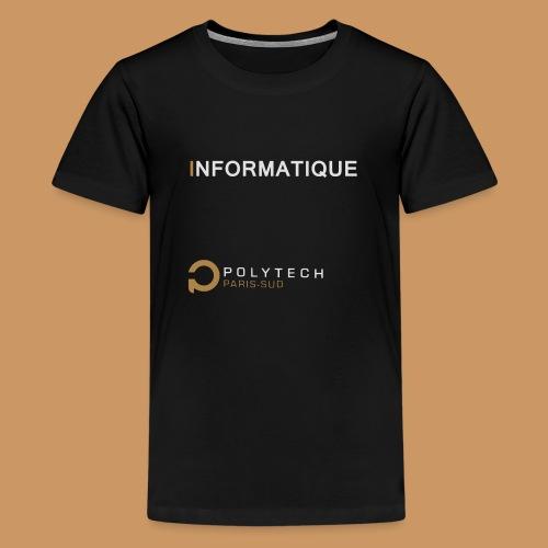 Motif Polytech jog info - T-shirt Premium Ado