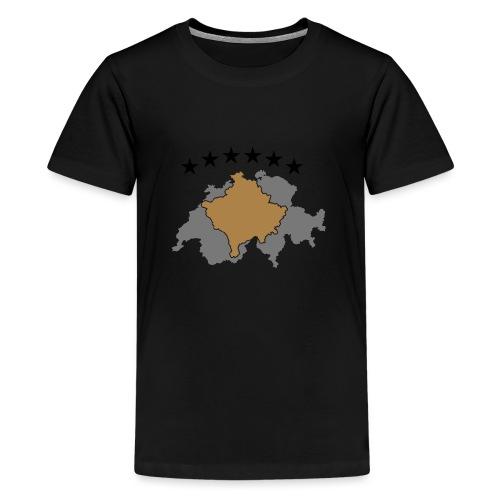 Kosovo Schweiz - Teenager Premium T-Shirt