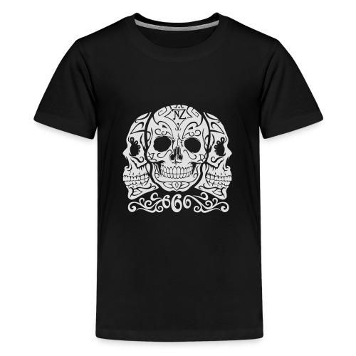 Skull Dia de los muertos - T-shirt Premium Ado